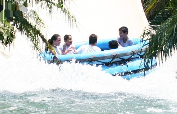diversión en el agua